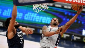 Wizards guard Bradley Beal and Timberwolves center Karl-Anthony Towns