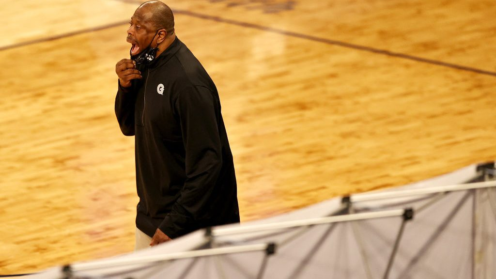 Georgetown coach and Knicks legend Patrick Ewing coaches in Big East tournament at Madison Square Garden