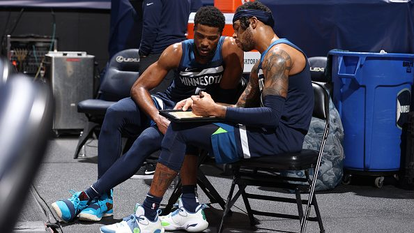 Timberwolves guards Malik Beasley and D'Angelo Russell