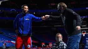 76ers president Daryl Morey and Ben Simmons