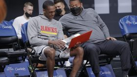 Rajon Rondo before Hawks-Kings