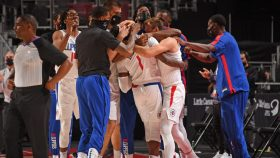 Reggie Jackson after game-winner in Clippers-Pistons