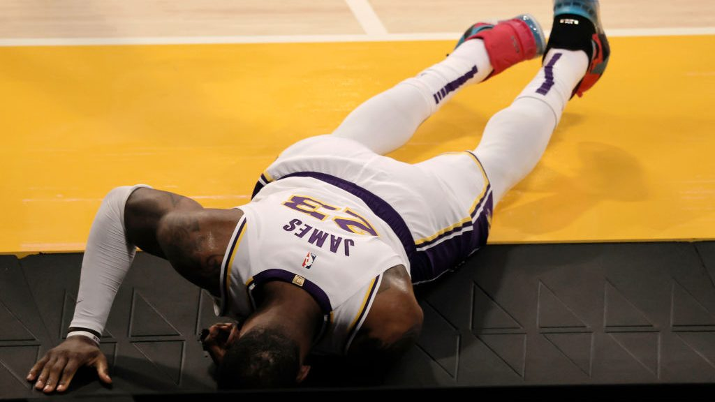 Lakers star LeBron James after injury
