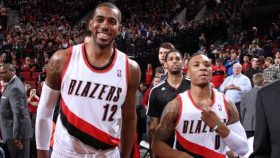 Trail Blazers stars LaMarcus Aldridge and Damian Lillard