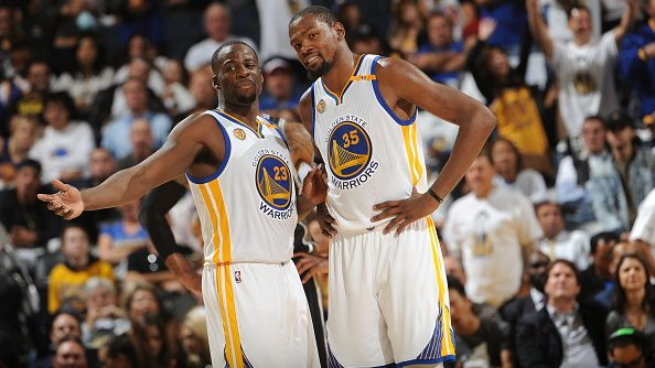 Former Warriors teammates Kevin Durant and Draymond Green