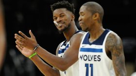 Former Timberwolves players Jimmy Butler and Jamal Crawford