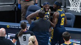 JaKarr Sampson in Pacers-Spurs fight