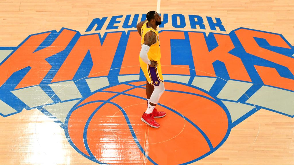 LeBron James in Lakers-Knicks