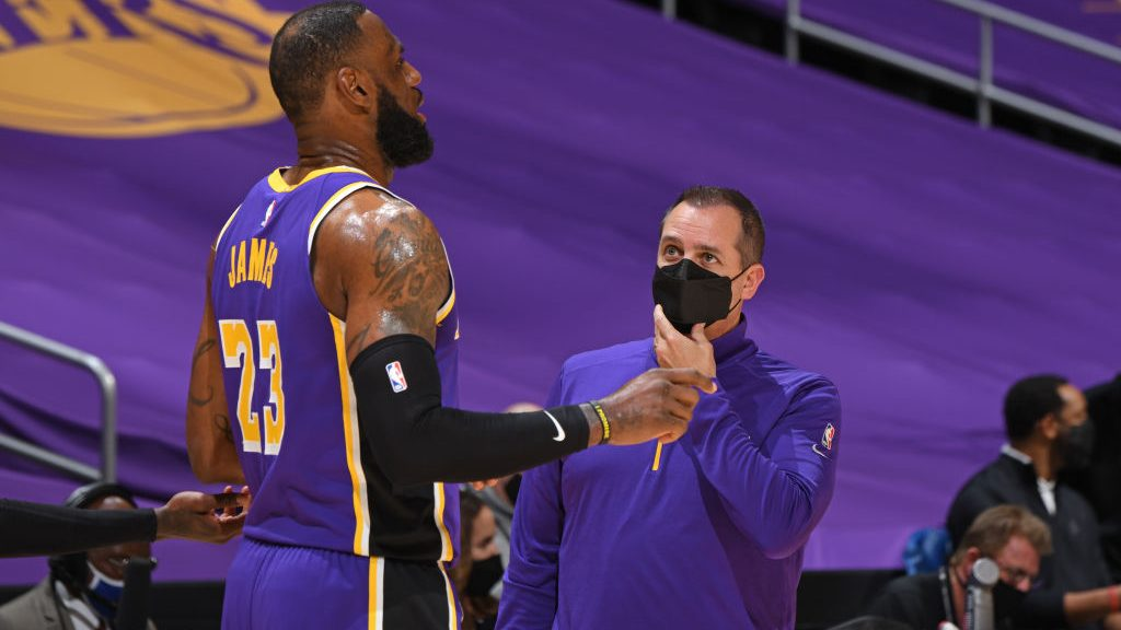 LeBron James and Lakers coach Frank Vogel