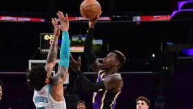 Lakers guard Dennis Schroder and Hornets forward Miles Bridges