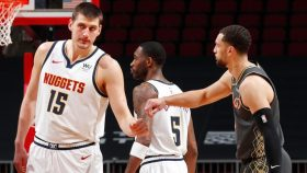 Nuggets center Nikola Jokic and Bulls guard Zach LaVine