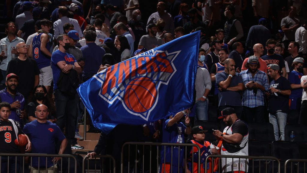 Fans at Knicks-Hawks playoff game