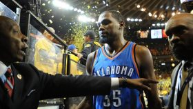 Kevin Durant after Warriors-Thunder Western Conference finals in 2016