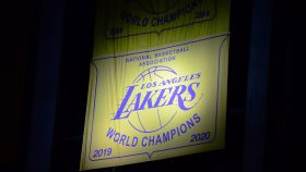 Lakers championship banner