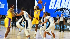LeBron James in Lakers-Magic in bubble