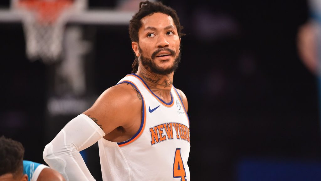 Knicks guard Derrick Rose, who received an MVP vote