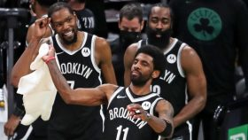 Nets stars Kyrie Irving, Kevin Durant and James Harden