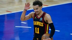 Trae Young waves after Hawks-76ers Game 7