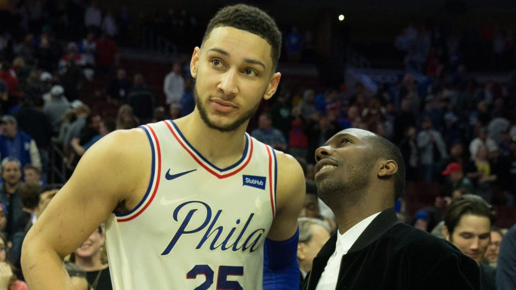 76ers star Ben Simmons and agent Rich Paul