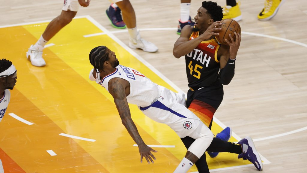 Donovan Mitchell and Paul George in Jazz-Clippers Game 1