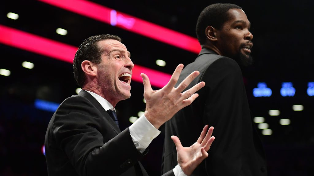 Former Nets coach Kenny Atkinson and former Warriors star Kevin Durant