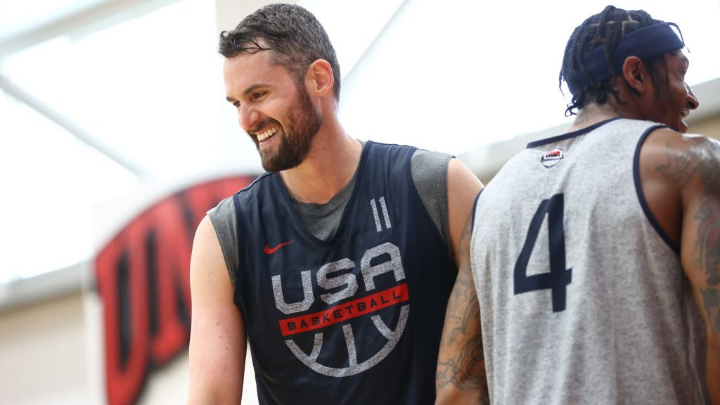 Cavaliers big Kevin Love with Team USA before Tokyo Olympics