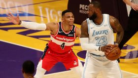 Wizards guard Russell Westbrook and Lakers star LeBron James