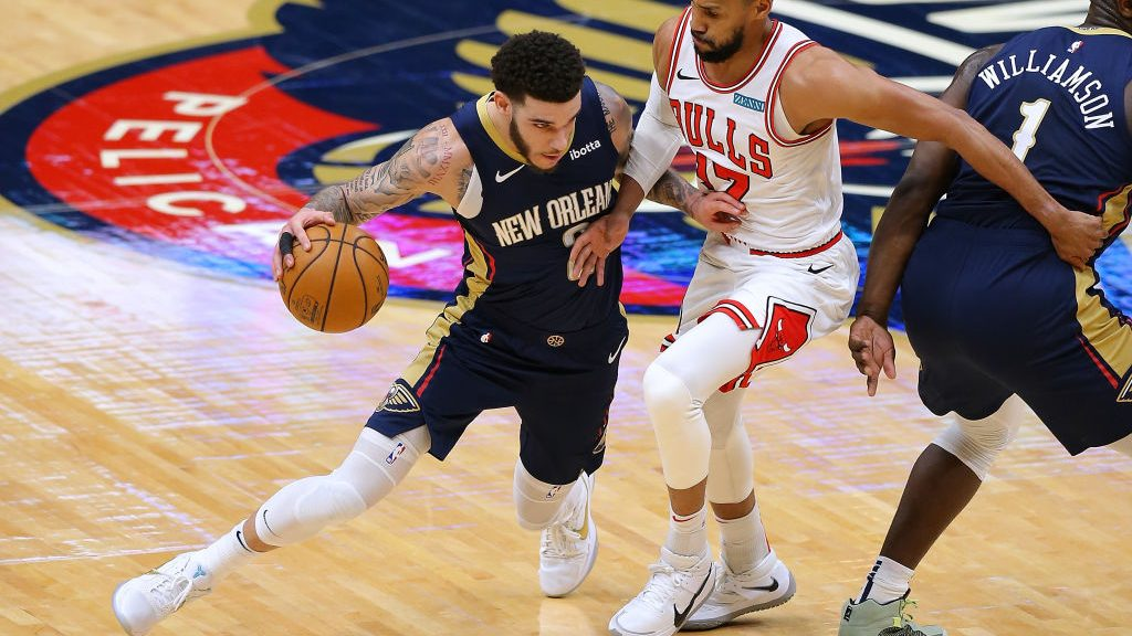 Lonzo Ball in Chicago Bulls v New Orleans Pelicans
