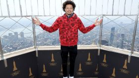 Presumptive Pistons #1 NBA Draft Pick Cade Cunningham Visits The Empire State Building