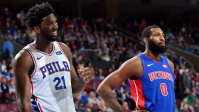 76ers star Joel Embiid and Andre Drummond