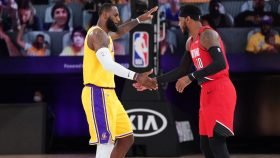 Lakers star LeBron James and Carmelo Anthony