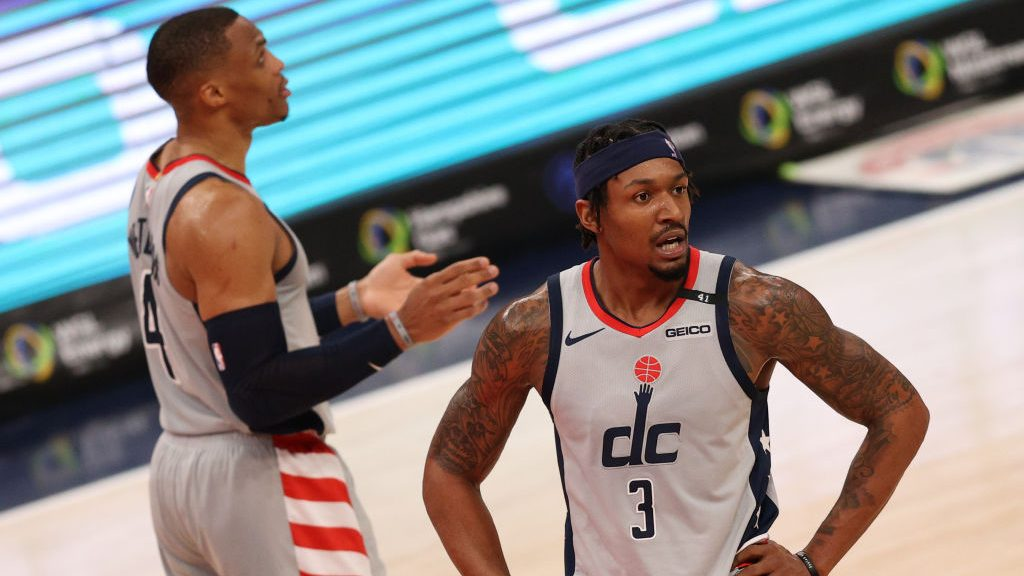 Wizards guards Russell Westbrook and Bradley Beal