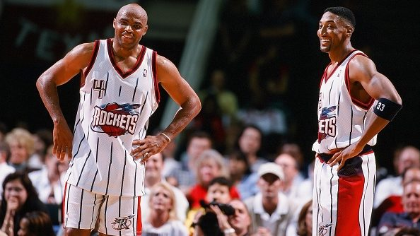 Charles Barkley and Scottie Pippen with Rockets