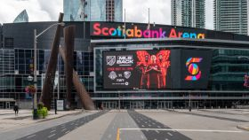 The new facade design of the Scotiabank Arena formerly Air