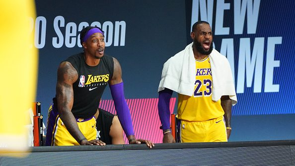 Lakers' LeBron James and Dwight Howard