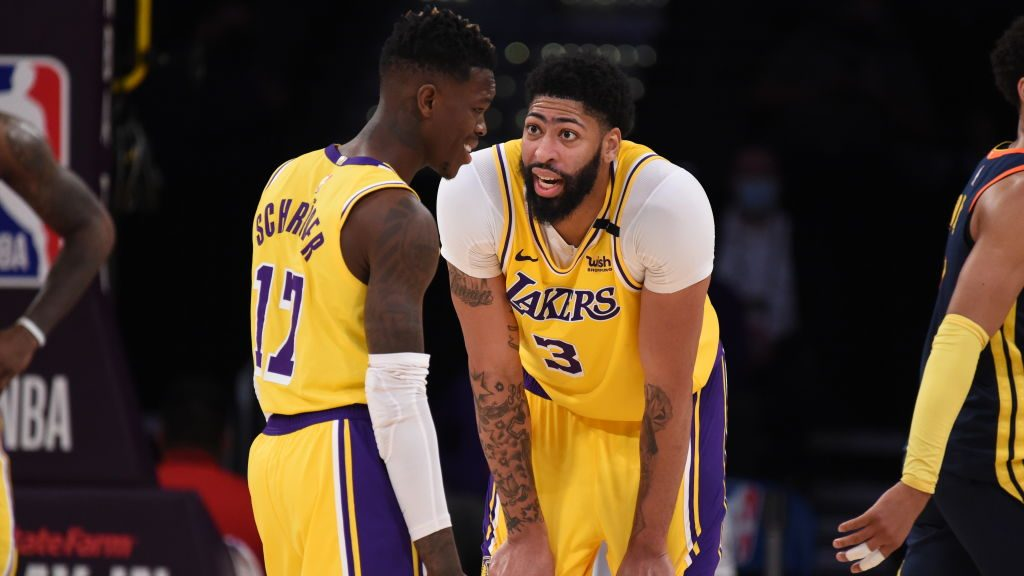 Report: Lakers star Anthony Davis was frustrated with Dennis Schroder's passing