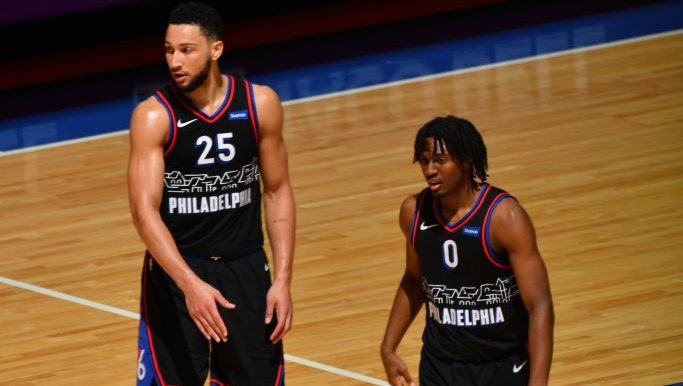 76ers Ben Simmons and Tyrese Maxey
