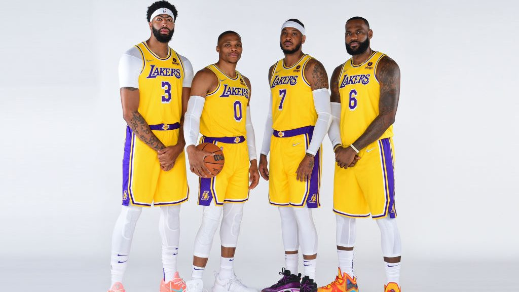 Lakers Anthony Davis, Russell Westbrook, Carmelo Anthony, LeBron James