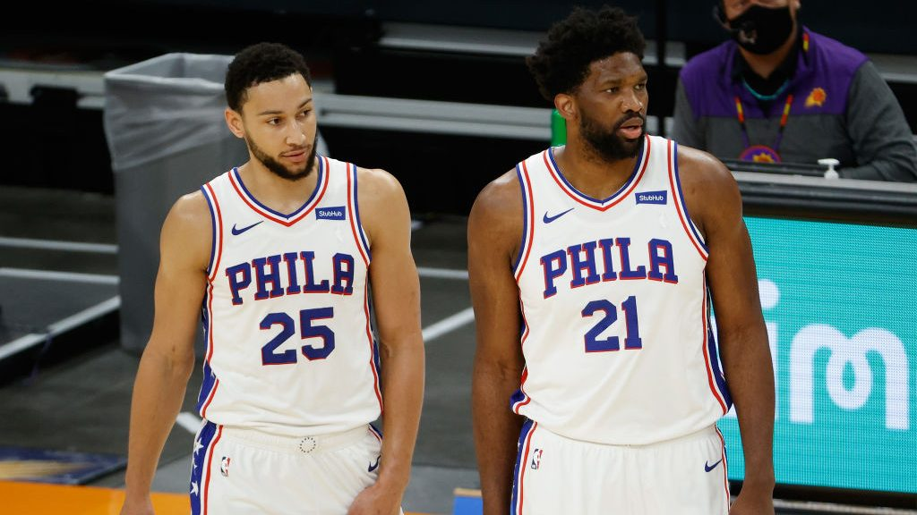 76ers stars Ben Simmons and Joel Embiid